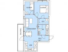 Lägenhet 1201, plan 2