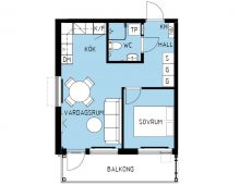 Lägenhet 1202, plan 2