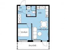 Lägenhet 1301, plan 3