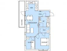 Lägenhet 1405, plan 4
