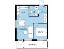 Lägenhet 1202-3, plan 2