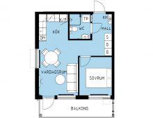 Lägenhet 1302-7, plan 3